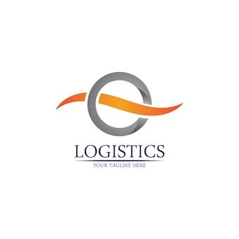物流および配送会社のベクトルのロゴテンプレート。
