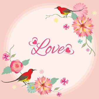 Vector for lover invitation card