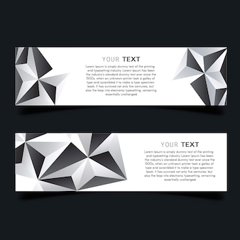 Vector lowpoly business stationery