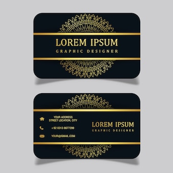 Vector luxury royal visiting card