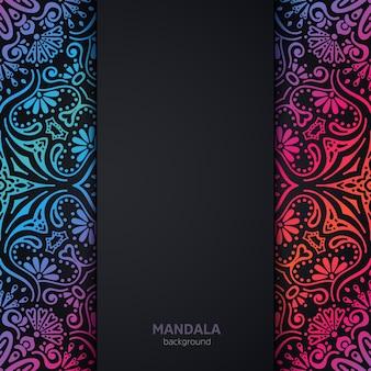 曼荼羅とベクトルの豪華な結婚式の招待状