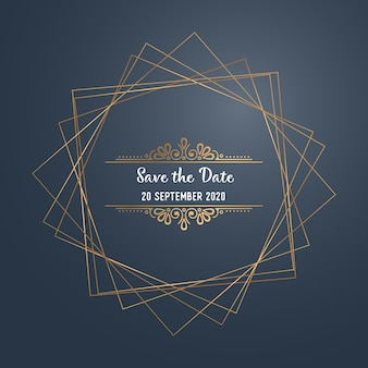 Vector luxury wedding invitation