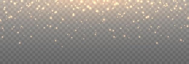 Vector magic glow magic dust falls from the sky glittering dust png magic dust christmas light