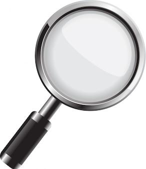 Вектор увеличительное стекло, изолированные на белом фоне