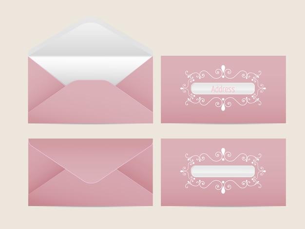 Busta di posta vettoriale. buste di carta in bianco per il tuo design. modello buste vettore.