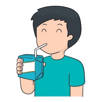 Vector of man drinking