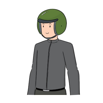 Vector of man wearing helmet