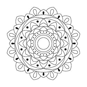 Vector mandala linear design