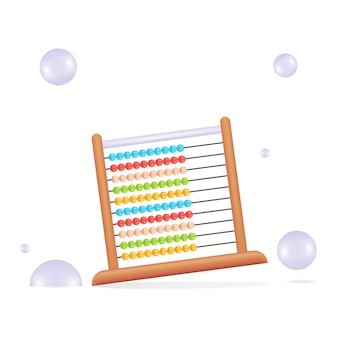 Vector math toy or calculator for kids with bright color and white background