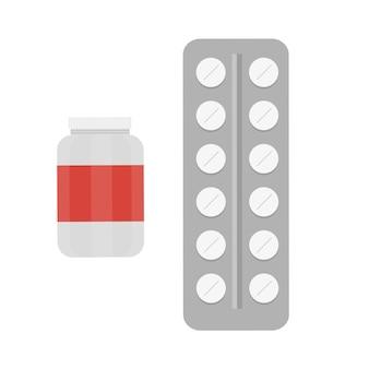 벡터 의료 알약 - 의학 아이콘 및 약물 - 의료 아이콘 - 평면 디자인
