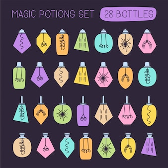 Vector mega set of potion