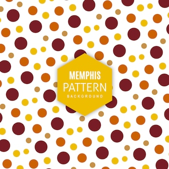 Vector memphis pattern background
