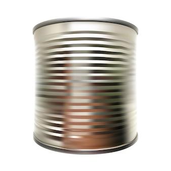 Vector metal tin can