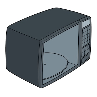 Vector of microwave oven