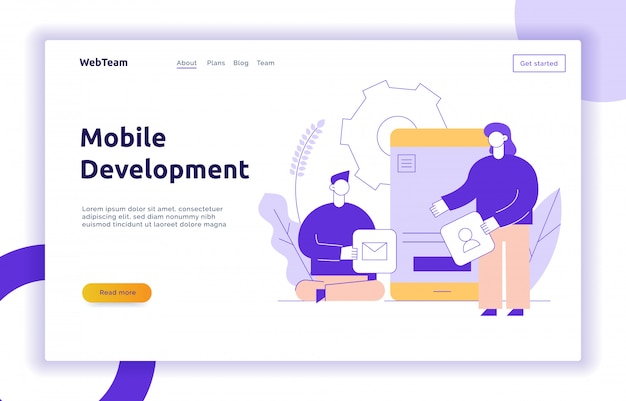 Vector mobile application or website development process