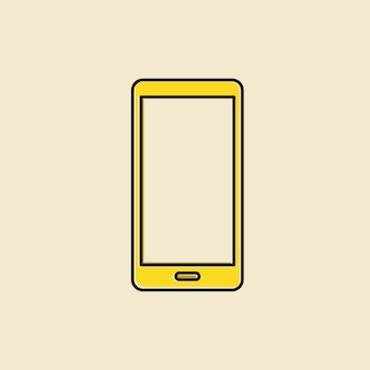 Vector of mobile phone icon