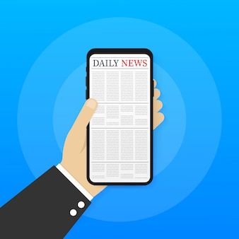 Vector mock up of a blank daily newspaper fully editable whole newspaper in clipping mask ,
