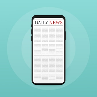 Vector mock up of a blank daily newspaper.