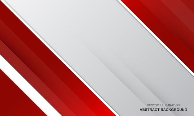 벡터 현대 배경 추상 흰색과 빨간색