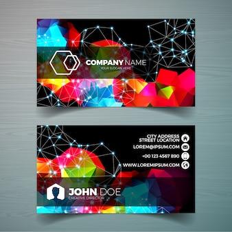Vector modern business card design template