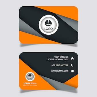Vector modern business card design