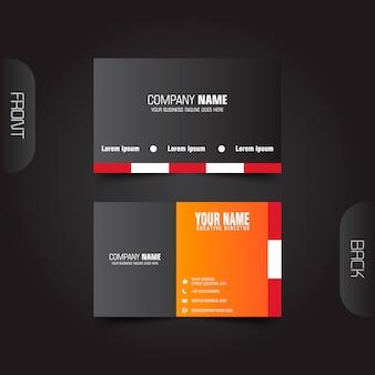 Vector modern creative and clean dark business card template