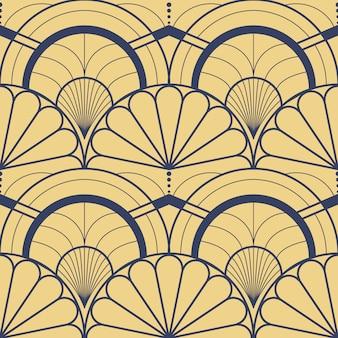 モダンな幾何学的なタイルライナーパターンベクトル