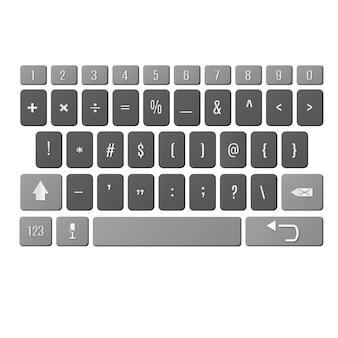 Вектор современная клавиатура смартфона