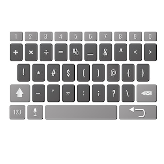 Vector modern keyboard of smartphone