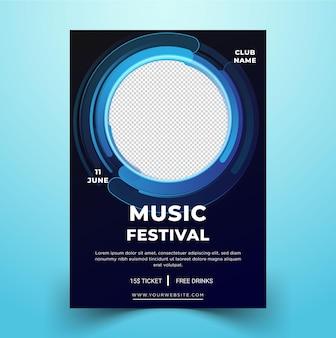 ベクトル現代ポスターテンプレート音楽祭