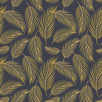 Vector modern seamless pattern. doodle flat images of feathers different size and shape. wrapping paper and background decoration.