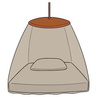 Vector of mosquito net