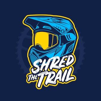 Vector mountain biking illustration