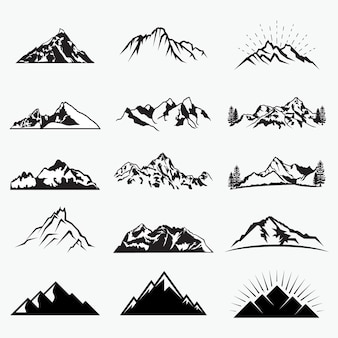 Vector mountain shapes