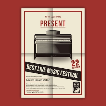 Vector of music festival poster template