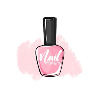 Vector nail polish bottle