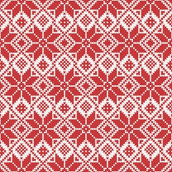 Векторный национальный белый и красный орнамент беларуси. славянский этнический узор. вышивка, вышивка крестиком