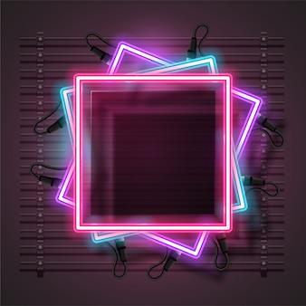 Vector of neon banner design.