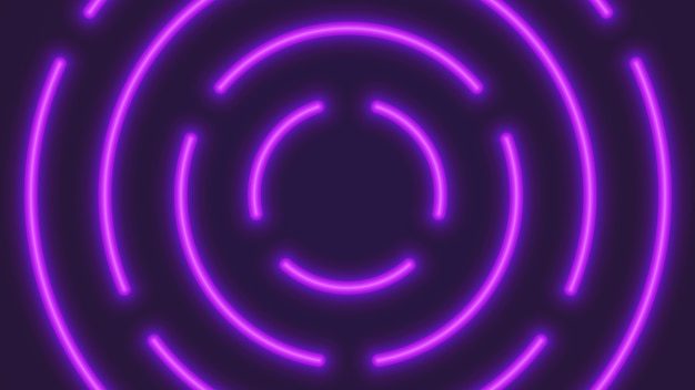 Vector neon circular lighting tubes abstract background