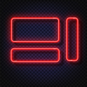 Vector neon light frame sign.