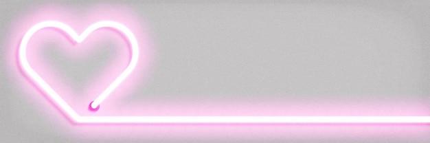Vector neon sign of heart concept