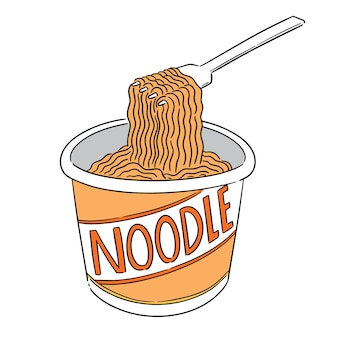 Vector of noodle