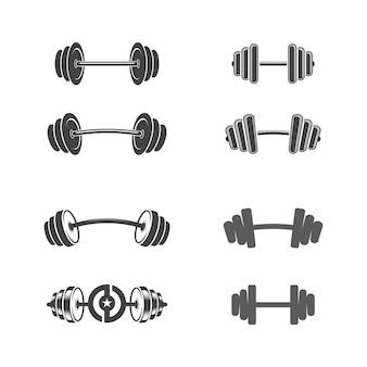Векторный объект и значки для спортивной этикетки, значок спортзала, дизайн логотипа фитнеса