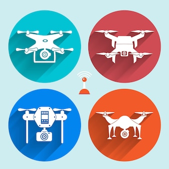 Vector object drones