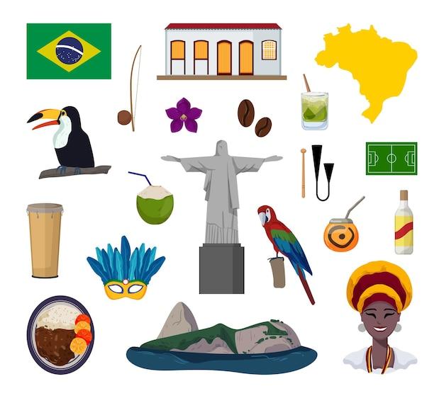 브라질과 관련된 벡터 객체