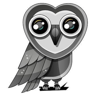 Вектор дизайна совы на белом фоне, птица. животное. дикая природа. легко редактируемые многослойные векторные иллюстрации.
