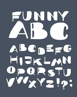 대담한 현대 글꼴 및 알파벳의 벡터