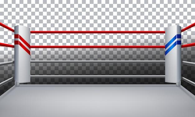 透明な背景に分離されたボクシングのリングのベクトル