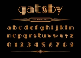 Vector of Gatsby font and number