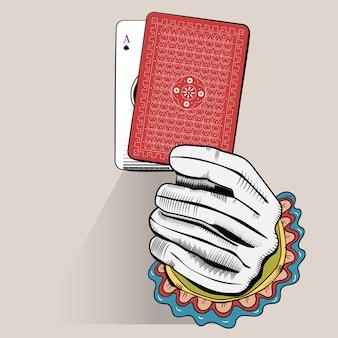 Векторные руки случайных игральных карт